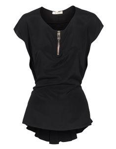Elastic Elegance Black by JadesFashion - SUCH A BEAUTIFUL TOP.