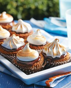 Chocolate Ganache and Marshmallow Topping cupcakes