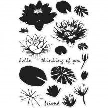 Create a special card for a friend using the Color Layering Water Lilies Clear Acrylic Stamp Set by Hero Arts. This photopolymer stamp set comes on a 4 Lavinia Stamps, Animal Silhouette, Friendship Cards, Animal Birthday, Heartfelt Creations, Water Lilies, Hero Arts, Clear Stamps, Biodegradable Products