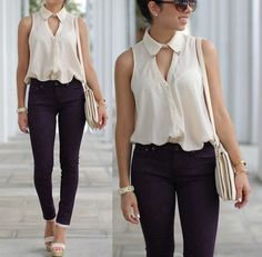Trendy how to wear casual outfits simple blouses ideas Casual Outfits, Cute Outfits, Fashion Outfits, Womens Fashion, Moda Fashion, Fashion Clothes, Style Fashion, Corsage, Passion For Fashion