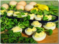 Parmesan stuffed eggs