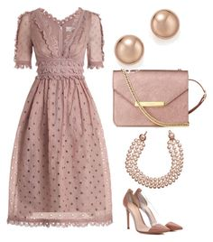 """Untitled #826"" by mchlap on Polyvore featuring Zimmermann, Gianvito Rossi, L.K.Bennett, Bloomingdale's and Chanel"