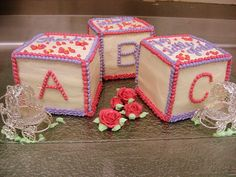 baby shower block cakes 007 | Flickr - Photo Sharing!