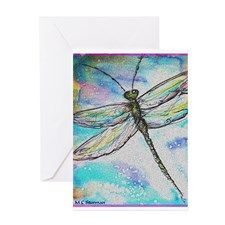 Dragonfly, colorful, Greeting Card for
