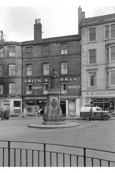 Queen Victoria Statue View from South, also showing Smith & Bowman Queen Victoria, 1960s, Past, Buildings, Statue, Shopping, Past Tense, Sixties Fashion, Sculptures
