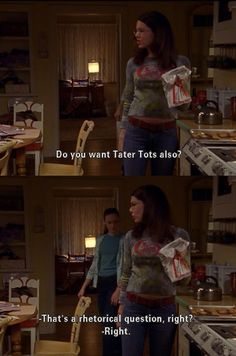 Lorelei and Rory's eating habits...
