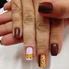 fall nail - 55 Seasonal Fall Nail Art Designs