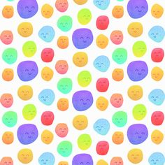 Poster | BE HAPPY PATTERN von Elisabeth Fredriksson | more posters at http://moreposter.de