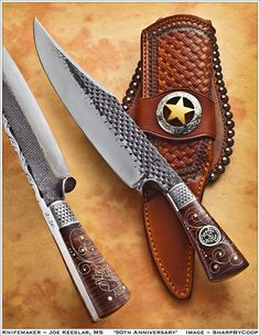 The rasp and file bladed Knives are cool, but I really like the sheath in this picture