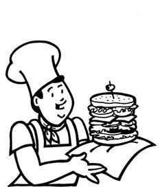 menu fast food coloring pages