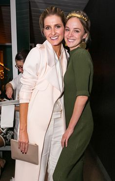 Kate Waterhouse and Nadia Faifax both wearing CAMILLA AND MARC
