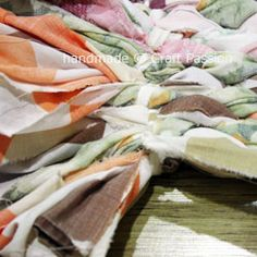 Old Bed Sheet Rug No Sewing Machine Required