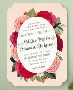 Roses wedding invite