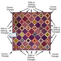 This quilt uses Setting Triangles--both corner and side setting triangles