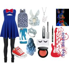 Toy Bonnie by dr-derp-of-awesomeness on Polyvore featuring Miss Selfridge, Rick Owens, Converse, Bling Jewelry, tarte, Bobbi Brown Cosmetics, Georgie Beauty, Bare Escentuals and Freddy