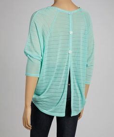 Take a look at this Mint Sheer Hi-Low Top by Hug on #zulily today! $18 !!