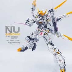 Custom Build: MG Custom [bws] - Nu Gundam Barbatos Weapons System Providence Gundam, Barbatos Lupus Rex, Blood Orphans, Gundam Iron Blooded Orphans, Gundam Custom Build, Gundam Art, Gunpla Custom, Mecha Anime, Custom Paint Jobs