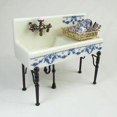Reutter Porcelain's miniature kitchen sink...