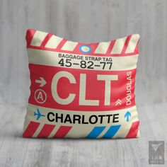 CAE Columbia Airport Code Throw Pillow - University of South Carolina Colors Baggage Tag, Cat Sitter, New Brunswick, Tag Design, Teacher Appreciation Gifts, Travel Themes, Inspired Homes, Dorm Decorations, Hostess Gifts