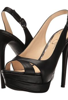 Jessica Simpson Willey (Black Soft Nappa Silk) Women's Shoes - Jessica Simpson, Willey, JS-WILLEY-001, Footwear Open General, Open Footwear, Open Footwear, Footwear, Shoes, Gift, - Fashion Ideas To Inspire