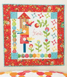 This came out so cute!!  Remembering Annabelle Wall Hanging Kit