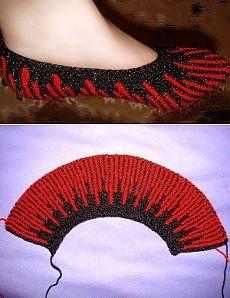 #knitting #slipper