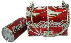 Diy handbag made from Coke cans.