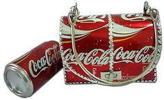 Diy handbag made from Coke cans.