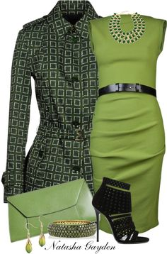 """Green Allegri Coat"" by natasha-gayden on Polyvore"