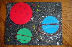 Science Crafts Outer Space Ideas For 2019 Space Crafts For Kids, Space Preschool, Art For Kids, Kids Crafts, Solar System Art, Solar System Crafts, Science Crafts, Preschool Crafts, Stem Science