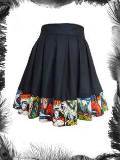 Horror movie monsters skater skirt. £39.99 http://www.emeraldangel.co.uk/movie-monsters-skater-skirt.html