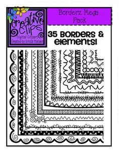 This set is PACKED with 35 fun doodle borders and elements in a variety of styles. Whether you are just getting started on TpT and need a great starter set for your products, or if you just need some new borders for your units, this pack is perfect! $