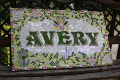 Custom Made Stained Glass Mosaic Name Signs  by WiseCrackinMosaics, $200.00