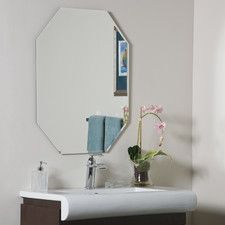 Photo Gallery In Website Frameless Rectangular High Wide Beveled Mirror Bathroom mirrors Bath and Master bathrooms
