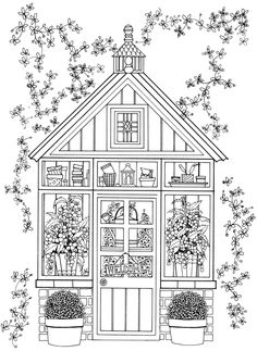 25 + Free Coloring Pages From Dover - (coloringbookaddict)  Davlin Publishing #adultcoloring
