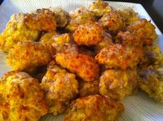Light 4 Ingredient Sausage Balls. So easy & everyone gobbled them up! Someone told me they were better than Magic Muffin's, WOW!