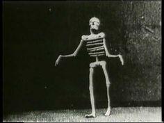 1895: Auguste & Louis Lumière: Le squelette joyeux - Is this french for happy skeleton
