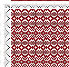 draft image: Threading Draft from Divisional Profile, Tieup: Something I drafted using Pixeloom., Draft #54021, 4S, 6T Weaving Designs, Weaving Projects, Weaving Patterns, Tile Patterns, Knitting Patterns, Inkle Weaving, Hand Weaving, Needle Felting Tutorials, Sampler Quilts