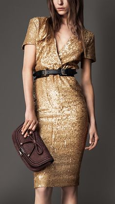 Burberry London | Sequin Crossover Dress FW 2012-13