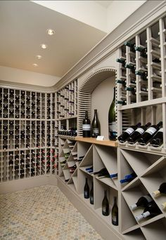 Nadire Atas on Adegas Embaixo da Escada modern wine room ideas Wine Cellar Basement, Wine Cellar Racks, Beer Cellar, Bodega Bar, Home Wine Cellars, Wine Cellar Design, Wine Tasting Room, Wine Wall, Wine Rack Wall