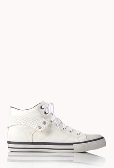 Fresh High-Top Sneakers   FOREVER21 Fresh for life! #Sneakers #Shoes #FauxLeather