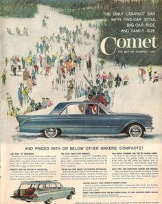 Items similar to Mercury Comet Advertisement, Ad -- Lincoln-Mercury -- Ford Motor Company -- Antique Car -- Vintage Paper -- Life Magazine -- Paper Ephemera on Etsy Vintage Advertisements, Vintage Ads, Vintage Prints, Vintage Posters, Retro Ads, Vintage Paper, Ford Fairlane, Chevrolet Impala, Mercury Cars