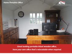 Home Portable Office – Run your business from home The home office is becoming a more and more sort after space where we look to save on leasing and commuting costs. Running your home business from one of these kitset cabins has been accomplished by many customers. View Now>>https://goo.gl/x7fCwP #HomePortableOffice #HomeBusiness #KitsetCabin #WoodenShed #GardenSheds #GardenShedsAu #SheShedz #ShabbyChic #Cubbyhouse
