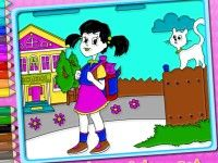 Play School Time Coloring on Top Baby Games.  Play Baby Hazel Games, School Games,Kids Games and many other free girl games