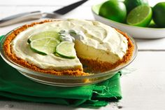 CanolaInfo |Key Lime Pie |George Geary, CCP, cookbook author |  You will feel like you are in the sunshine of the Florida Keys! If you are unable to locate key limes, regular lime juice will do the trick.