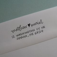 Self-ink address stamp, lettergirl shop on etsy. Neat.