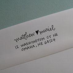self-ink address stamp, lettergirl shop on etsy.