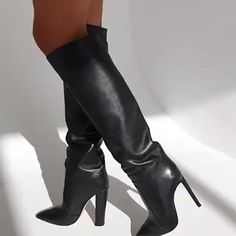 Knee High Heels, High Heel Boots, Heeled Boots, Ankle Boots, Two Piece Cocktail Dresses, Modern Princess, Stiletto Boots, Chunky Heels, Over The Knee Boots