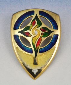 18K Gold with Transparent Vitreous Enamel by artist Kristin Anderson