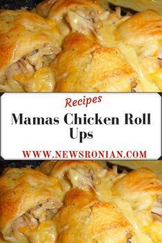 Mamas Chicken Roll Ups - newsronian Chicken Croissant, Chicken Crescent Rolls, Chicken Recipes, Chicken Soup, Chicken Meals, Rotisserie Chicken, Chicken Casserole, Chicken Roll Ups, Dinner Rolls Recipe